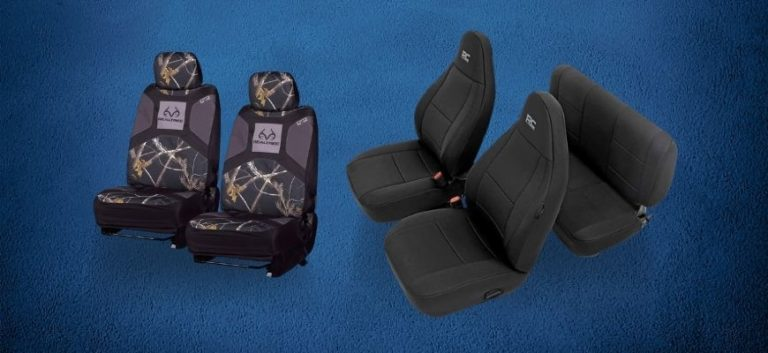 Jeep Wrangler Seat Covers in blue background
