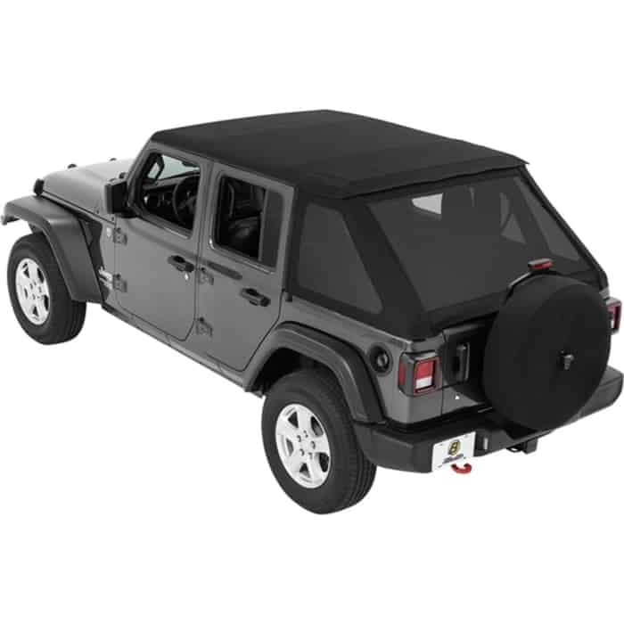 Bestop Trektop NX Black OEM 3-layer twill Soft Top - With Frame (Frame Included)