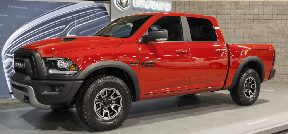 CHARLOTTE, NC, USA - November 11, 2015: RAM 1500 on display during the 2015 Charlotte International Auto Show at the Charlotte Convention Center in downtown Charlotte.