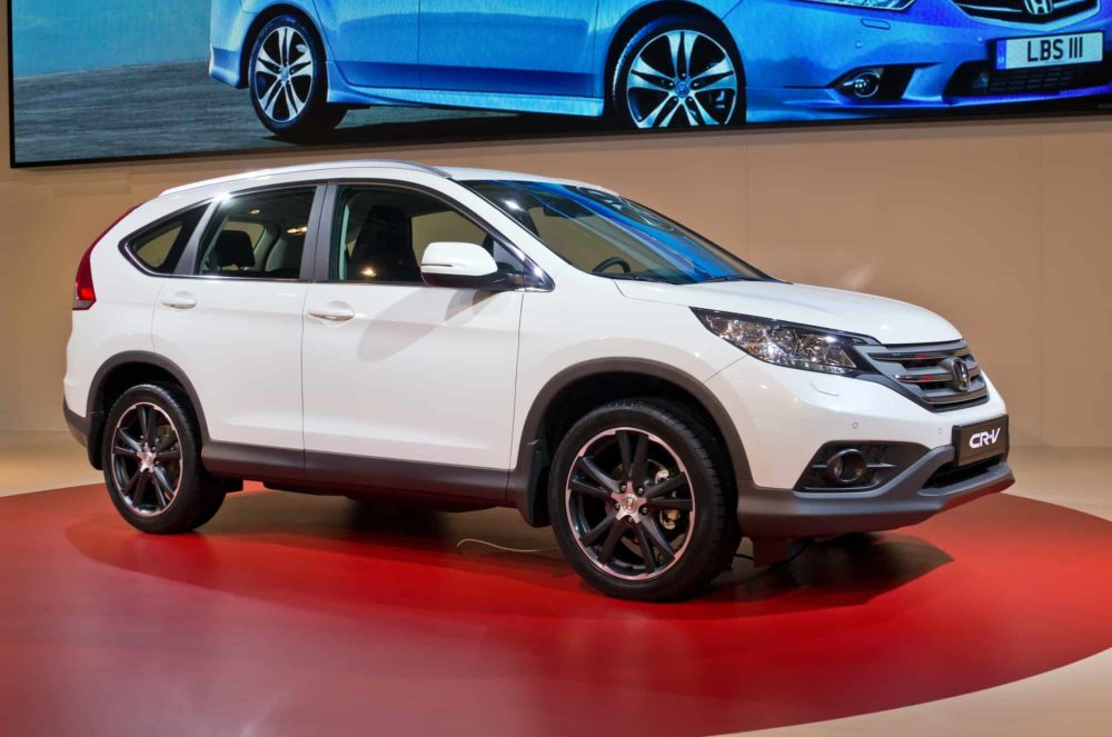 MOSCOW-SEPTEMBER 6: Honda CR-V at the Moscow International Automobile Salon on September 6,2012 in Moscow