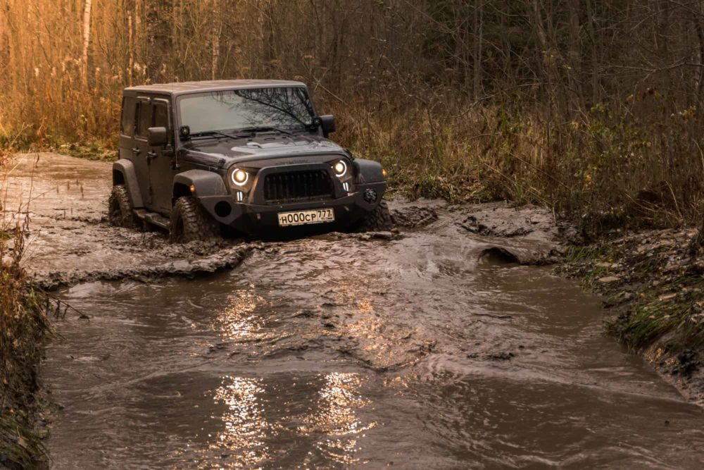 Offroad jeep Wrangler
