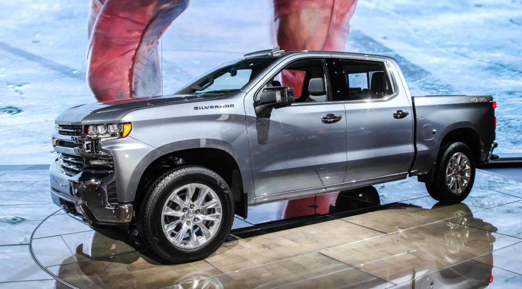NEW YORK, NY, USA - APRIL 17, 2019: 2019 Chevrolet Silverado at the New York International Auto Show 2019, at the Jacob Javits Center. This was Press Preview Day One of NYIAS
