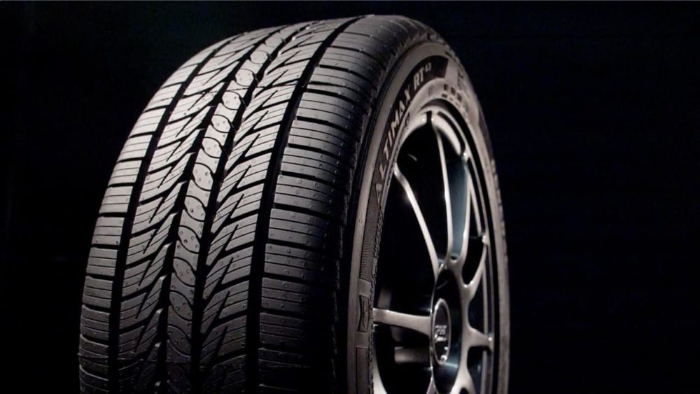 General Altimax RT43 Tire in black background.