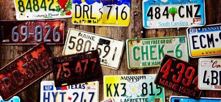 Different designs of Jeep License Plates