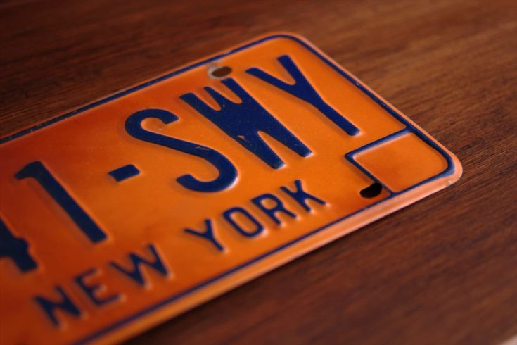 Old New York State license plate