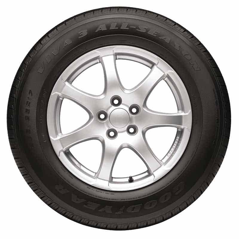 Goodyear Viva 3 tires in a white background.
