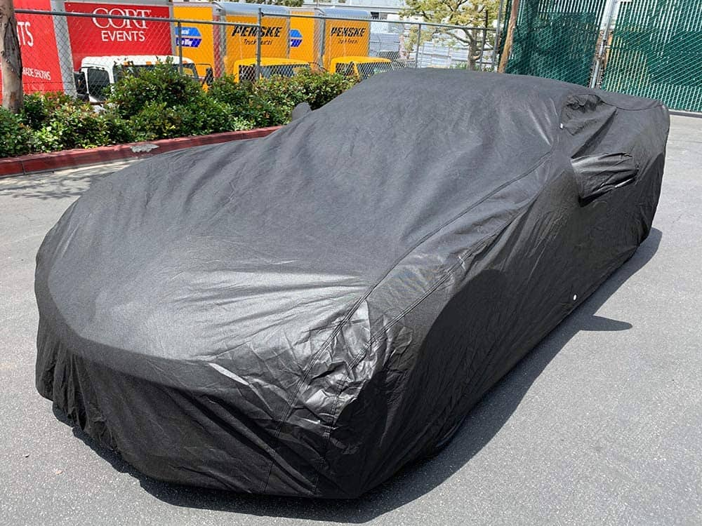 Xtrashield Custom Fit C7 2014-2019 Chevy Corvette Stingray Z51/Z06/Grand Sport Car Cover Black Covers